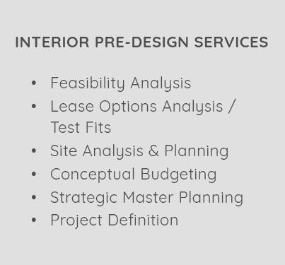 Interior Pre-Design Services