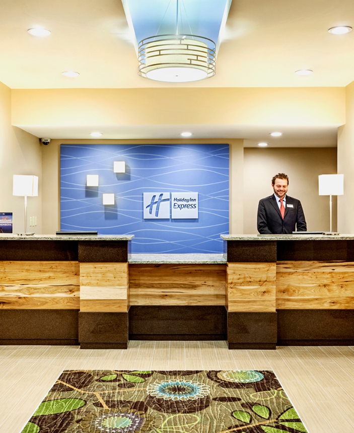 Lobby of the Holiday Inn Express Charleston Ashley River by KPS Group Inc