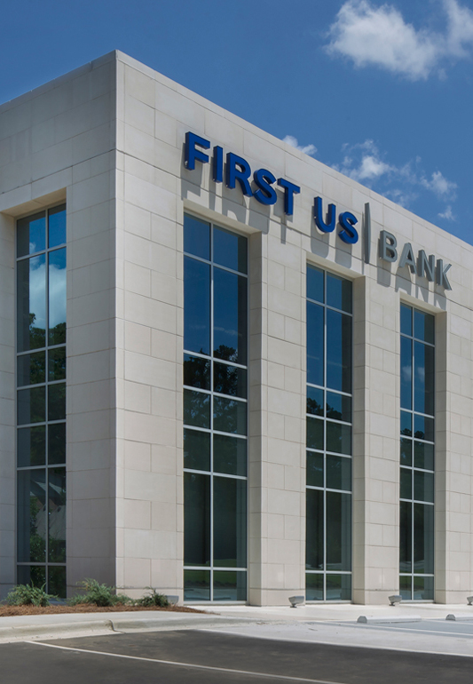 Pump House Plaza 40,000sf new commercial building in Birmingham anchored by First US Bank - KPS Group Inc