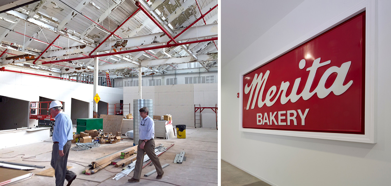 Bakers Row: Construction & Historic Sign