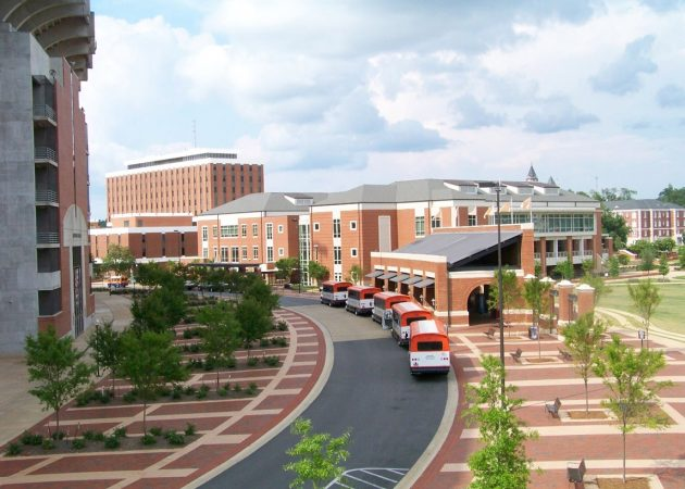 Campus Green + Main Transit Pavilion at Auburn University